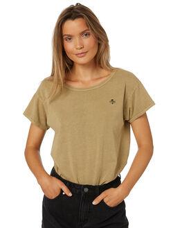 TAN WOMENS CLOTHING THRILLS TEES - WTS8-107CTAN