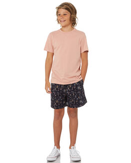 NAVY COMBO KIDS BOYS ACADEMY BRAND BOARDSHORTS - B19S640NVYC