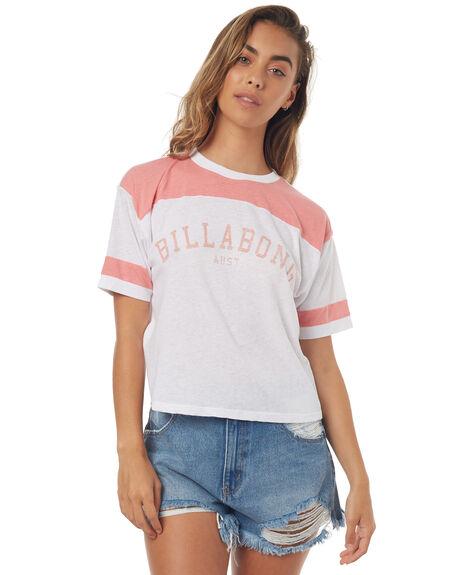 WHITE WOMENS CLOTHING BILLABONG TEES - 6571002WHT