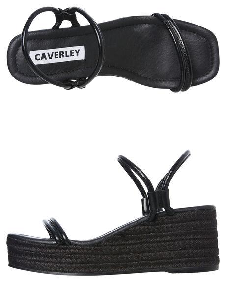 BLACK OUTLET WOMENS CAVERLEY HEELS - 192S056SBLK