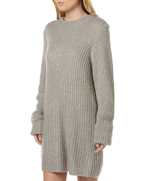 GREY MELANGE WOMENS CLOTHING CHEAP MONDAY DRESSES - 0347110GRY