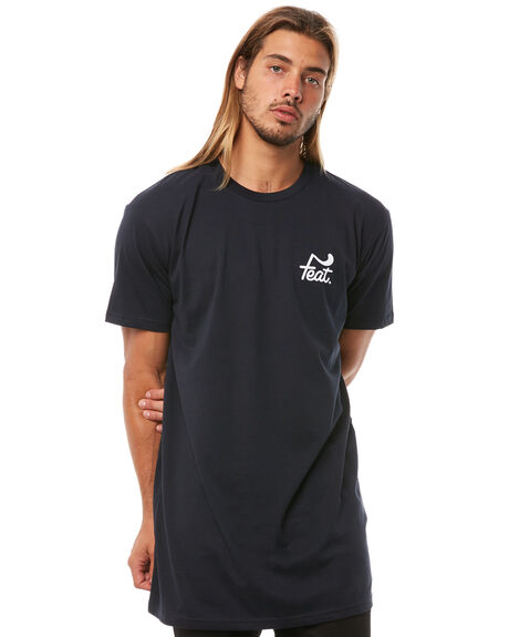 NAVY MENS CLOTHING FEAT TEES - FTTTLOG01NVY