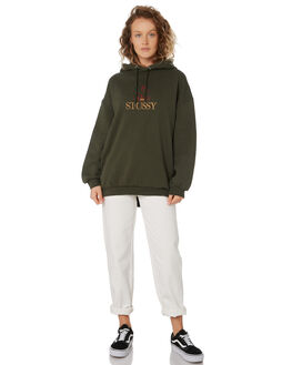 FLIGHT GREEN WOMENS CLOTHING STUSSY JUMPERS - ST196319GRN