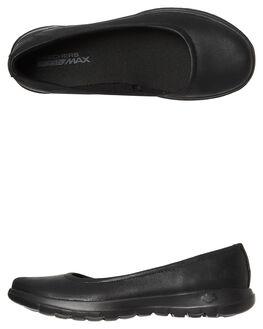 BLACK BLACK WOMENS FOOTWEAR SKECHERS FLATS - 15395BBK