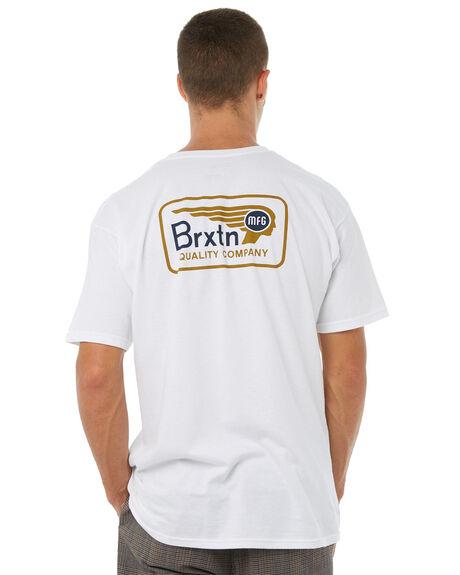 WHITE MENS CLOTHING BRIXTON TEES - 06704WHITE