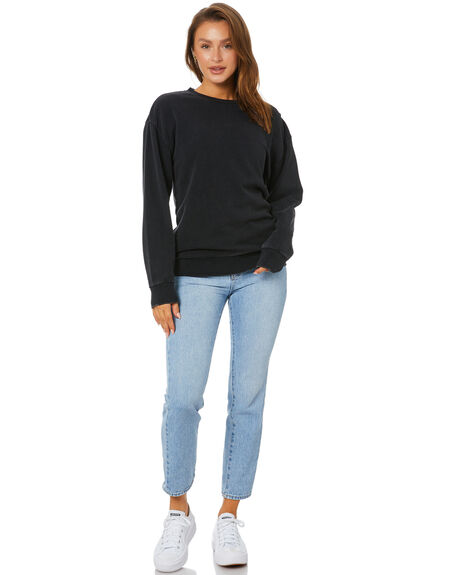 WASHED BLACK WOMENS CLOTHING SILENT THEORY JUMPERS - 6063056WBLK