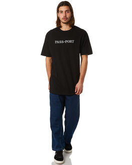 BLACK MENS CLOTHING PASS PORT TEES - OFFICIALSBLK