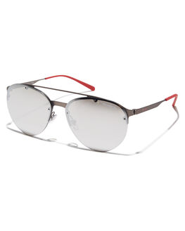 GUNMETAL LIGHT GREY MENS ACCESSORIES ARNETTE SUNGLASSES - 0AN3075GUNMT