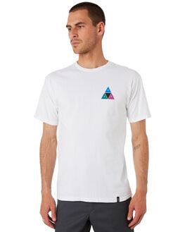 WHITE MENS CLOTHING HUF TEES - TS00908-WHITE