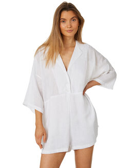 WHITE WOMENS CLOTHING ZULU AND ZEPHYR PLAYSUITS + OVERALLS - ZZ2323WHT