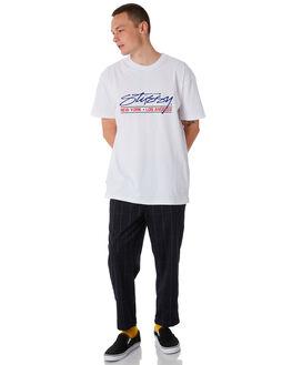 WHITE MENS CLOTHING STUSSY TEES - ST087008WHT