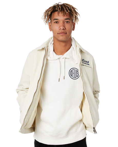 WHITE MENS CLOTHING DEUS EX MACHINA JACKETS - DMP206403WHT