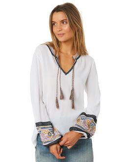 WHITE WOMENS CLOTHING TIGERLILY FASHION TOPS - T383032WHT