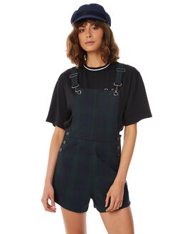 DEEP NAVY CHECK WOMENS CLOTHING AFENDS PLAYSUITS + OVERALLS - W183884-DNC