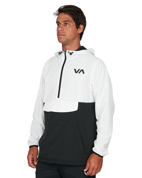 BLACK MENS CLOTHING RVCA JACKETS - RV-R305433-BLK