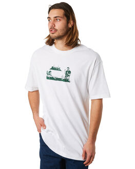 WHITE MENS CLOTHING PASS PORT TEES - POOLGLASSWHT