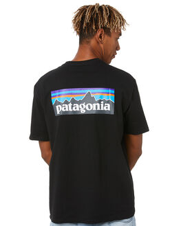 BLACK MENS CLOTHING PATAGONIA TEES - 38504BLK