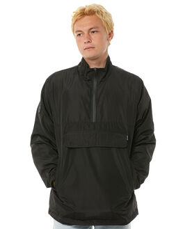 BLACK MENS CLOTHING HUFFER JACKETS - MJA81S320BLK