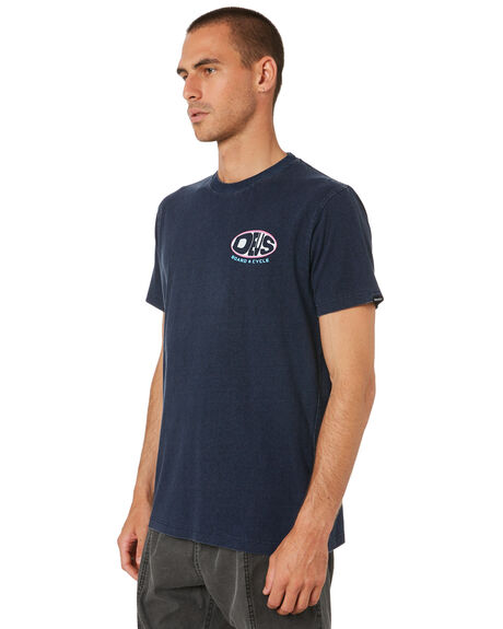 NAVY MENS CLOTHING DEUS EX MACHINA TEES - DMS91313BNVY
