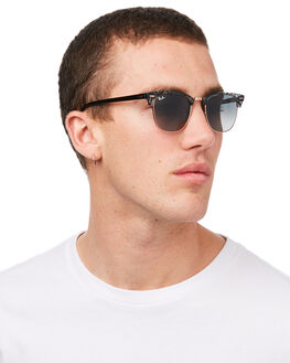 SPOTTED GREY GREEN MENS ACCESSORIES RAY-BAN SUNGLASSES - 0RB3016SGRGR