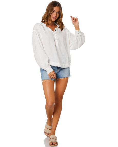 IVORY WOMENS CLOTHING FREE PEOPLE FASHION TOPS - OB1209687IVO