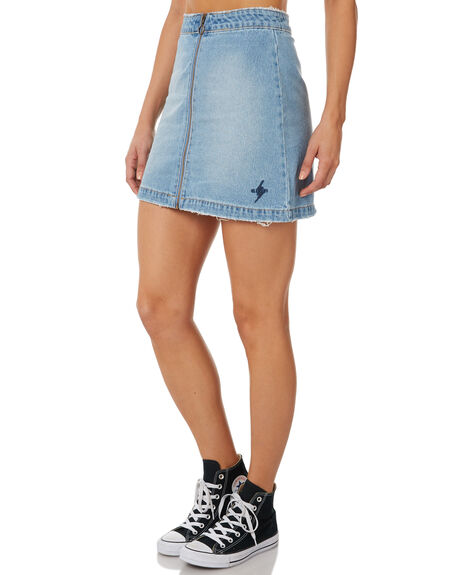MID BLUE WOMENS CLOTHING ELEMENT SKIRTS - 283855M03