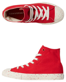 ENAMEL RED KIDS BOYS CONVERSE HI TOPS - 660715RED