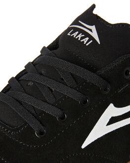 BLACK GUM MENS FOOTWEAR LAKAI SKATE SHOES - MS2180249ABKGUM
