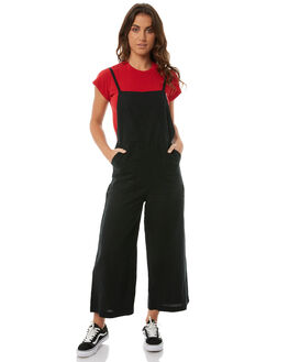 WASHED BLACK WOMENS CLOTHING RVCA PLAYSUITS + OVERALLS - R283754WBLK