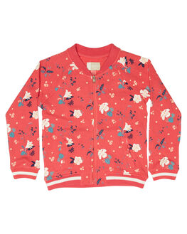 ROUGE RED TROPICOOL KIDS GIRLS ROXY JUMPERS + JACKETS - ERLFT03135MLJ8