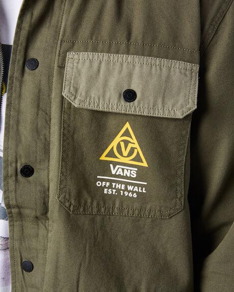 GRAPE LEAF VETIVER MENS CLOTHING VANS JACKETS - VN0A4RQ4ZIPGRN