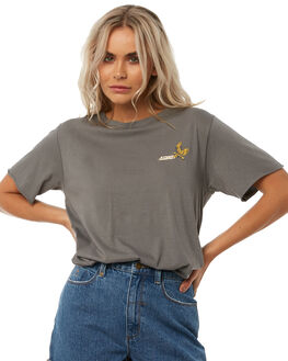 FADED GREY WOMENS CLOTHING THRILLS TEES - WTH8-112GGRY