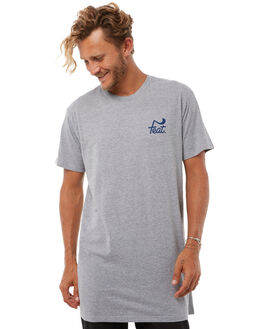 GREY NAVY MENS CLOTHING FEAT TEES - FTTTLOG01GRYN