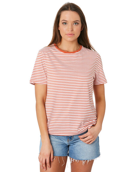 ORANGE WHITE OUTLET WOMENS SWELL TEES - S8201009ORGWT