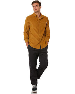 TURMERIC MENS CLOTHING RHYTHM SHIRTS - JUL18M-WT01TUR