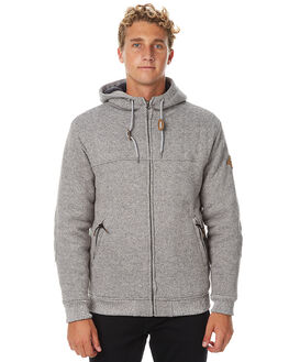 LIGHT GREY HEATHER MENS CLOTHING QUIKSILVER JUMPERS - EQYFT03543LGH