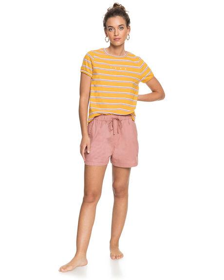 MINERAL YELLOW WOMENS CLOTHING ROXY TEES - ERJZT05036-YKM3