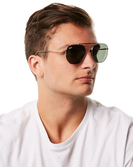 GOLD GREEN MENS ACCESSORIES RAY-BAN SUNGLASSES - 0RB3648GLDGR