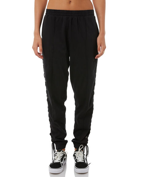 BLACK WOMENS CLOTHING STUSSY PANTS - ST185609BLK