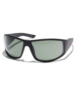 MATT BLACK GRN POLAR MENS ACCESSORIES QUIKSILVER SUNGLASSES - EQYEY03032XKGG