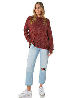BURGUNDY WOMENS CLOTHING ALL ABOUT EVE KNITS + CARDIGANS - 6433042BURG
