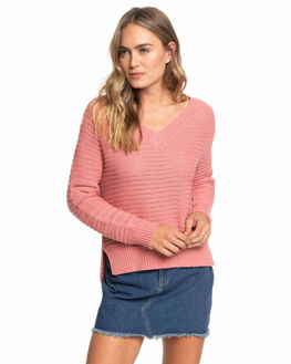 BRANDIED APRICOT WOMENS CLOTHING ROXY KNITS + CARDIGANS - ERJSW03324-MJG0