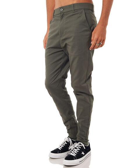 OLIVE MENS CLOTHING ZANEROBE PANTS - 711-CARBIOLI