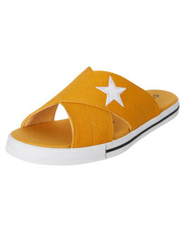 SUNFLOWER WOMENS FOOTWEAR CONVERSE SLIDES - 565529CSFLWR