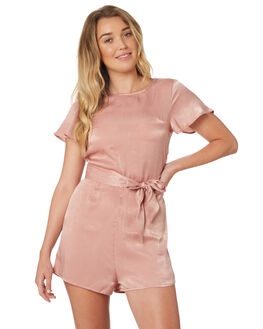 BLUSH WOMENS CLOTHING ALL ABOUT EVE PLAYSUITS + OVERALLS - 6424017PNK
