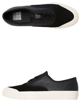 BLACK MENS FOOTWEAR HUF SKATE SHOES - VC00012BLK