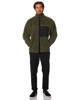 KHAKI MENS CLOTHING STUSSY JACKETS - ST097506KHAK