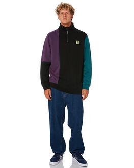 BLACK MENS CLOTHING STUSSY JUMPERS - ST006210BLK