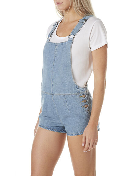 STONE BLUE WOMENS CLOTHING AFENDS PLAYSUITS + OVERALLS - 51-02-074BLU