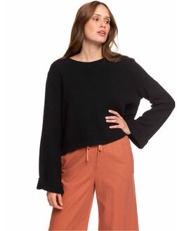ANTHRACITE WOMENS CLOTHING ROXY KNITS + CARDIGANS - ERJSW03343-KVJ0